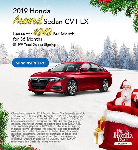 2019 Honda Accord - Dec