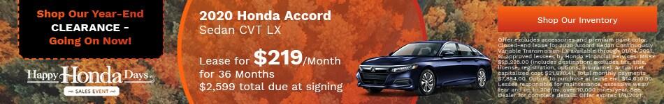2020 Honda Accord Sedan CVT LX - Nov update