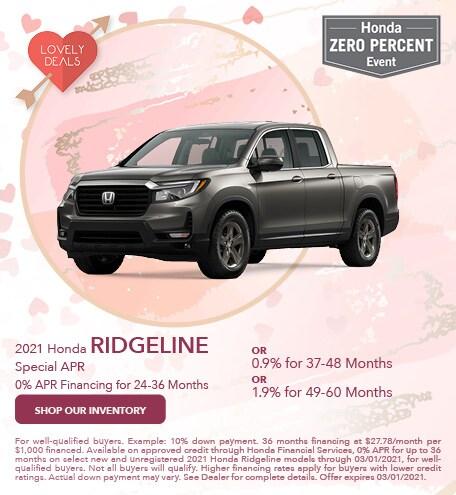 2021 Honda Ridgeline Special APR - Feb