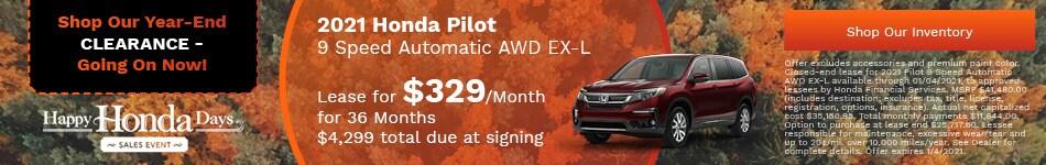 2021 Honda Pilot 9 Speed Automatic AWD EX-L - Nov update