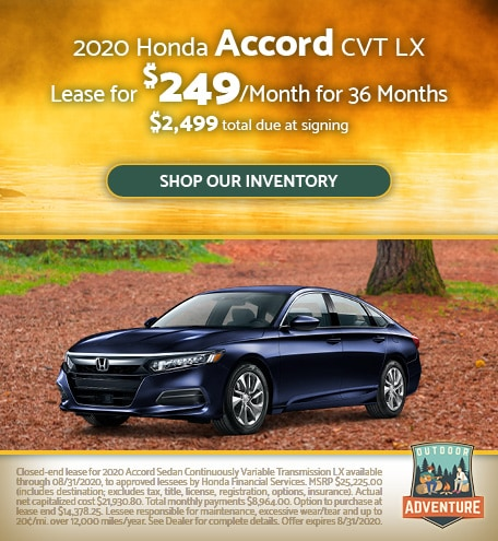 2020 Honda Accord CVT LX - July