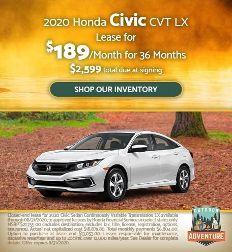 2020 Honda Civic CVT LX - July