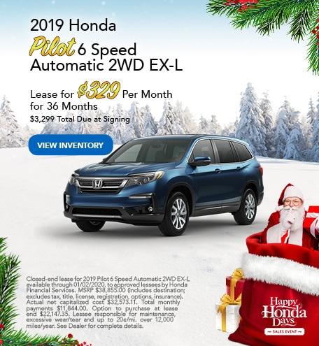 New 2019 Honda Pilot - Dec