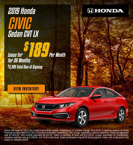 New 2019 Honda Civic - Oct '19