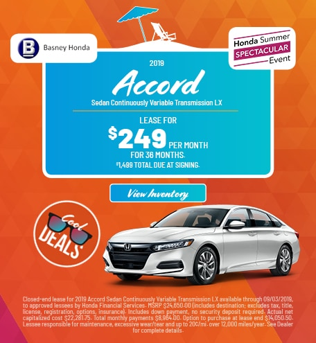 New 2019 Honda Accord - Aug '19