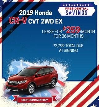 2019 Honda CR-V CVT 2WD EX - Feb