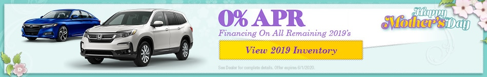 0% APR Financing On All Remaining 2019's - May