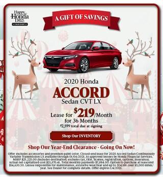 2020 Honda Accord Sedan CVT LX - Dec