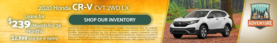 2020 Honda CR-V CVT 2WD LX - July