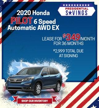 2020 Honda Pilot 6 Speed Automatic AWD EX - Feb