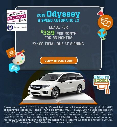 New 2019 Honda Odyssey - Aug '19