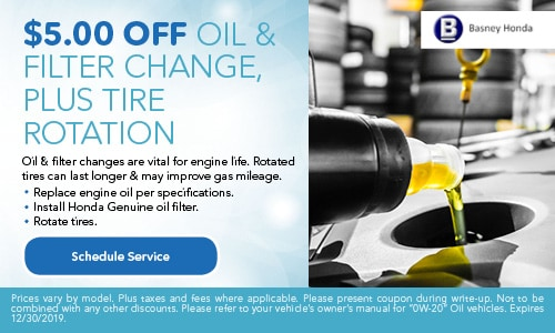 $5 Off Oil & Filter change, Plus Tire Rotation Special