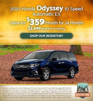 2020 Honda Odyssey 10 Speed Automatic EX - July