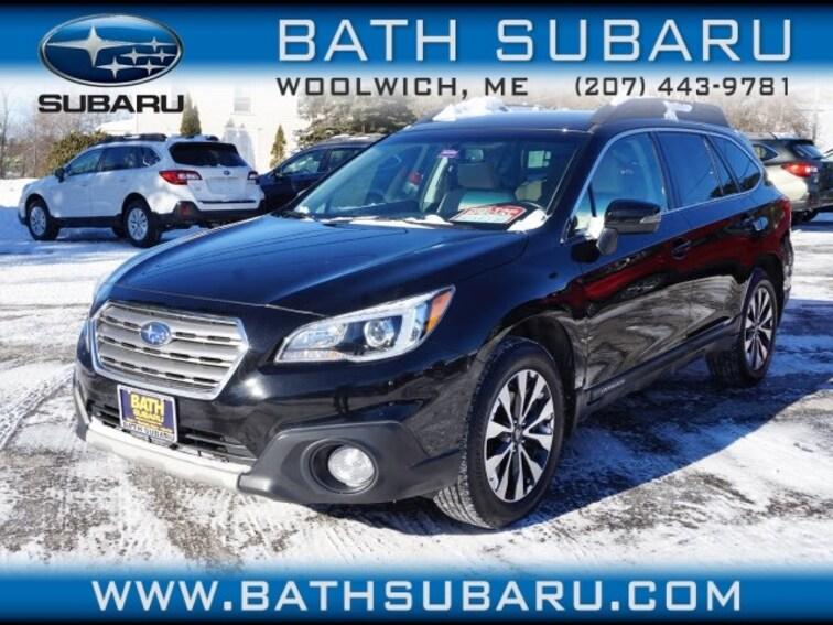 Used  2015 Subaru Outback 2.5i Limited w/Moonroof/KeylessAccess/Nav/EyeSight SUV in Woolwich, ME