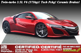 2017 Acura NSX  573 hp and 476 lb-ft of torque to all four wheels