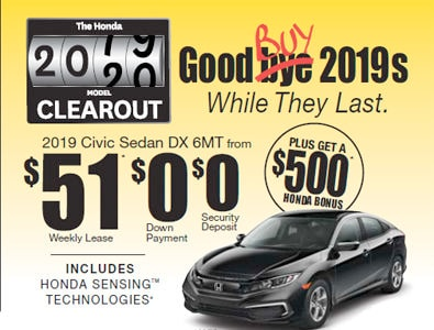 2019 Honda Clearout Event