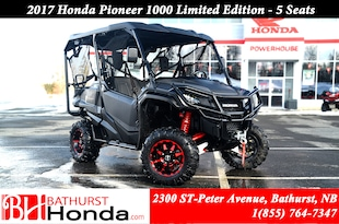 2017 Honda Pioneer 1000 Limited Edition - 5 seats ($95 weekly)