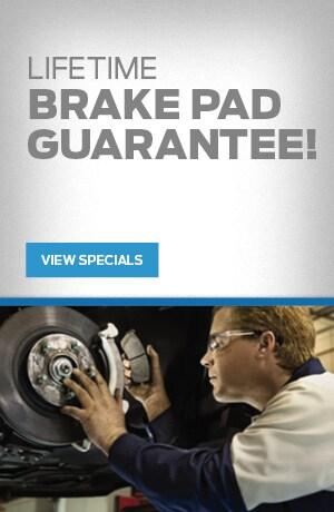 Lifetime Brake Pad Guarantee!