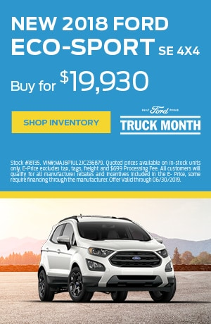 2018 Ford EcoSport - June