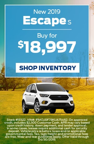 April 2019 Ford Escape Special