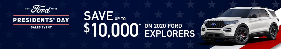 2020 Ford Explorer Presidents Day