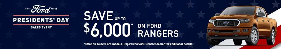 Ford Rangers Presidents' Day Sale