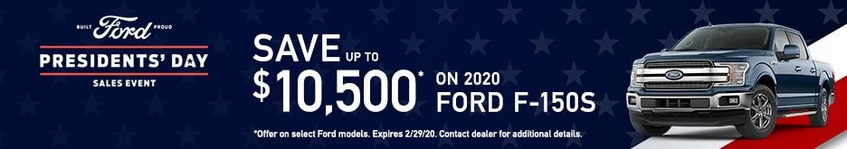 2020 Ford F-150s Presidents' Day Specials
