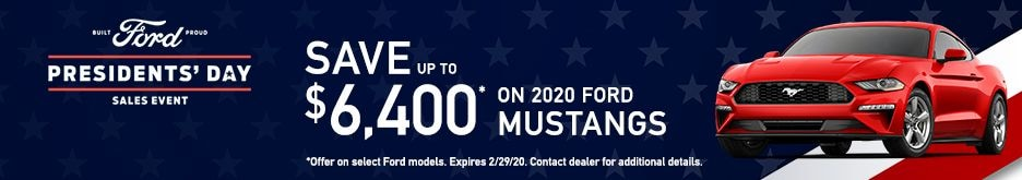 2020 Ford Mustang Presidents' Day Sale