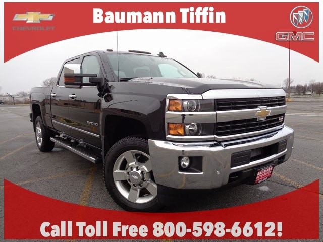 Featured Used 2016 Chevrolet Silverado 2500HD LTZ Truck Crew Cab for sale in Fremont, OH