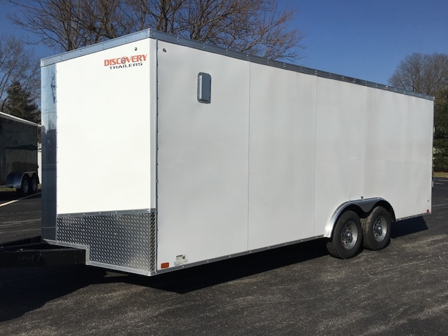 2019 DISCOVERY CARGO CHALLENGER Series ENCLOSED 8.5X20TA52 V-NOSE REAR RAMP ***NEW*** CAR HAULER