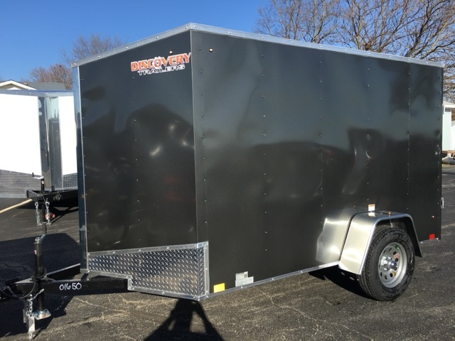 2018 DISCOVERY CARGO ROVER ET Series ENCLOSED 6X10SA35 V-NOSE REAR RAMP ***NEW*** CARGO TRAILER