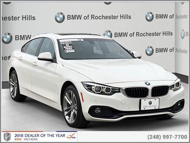 certified used 2018 BMW 430i xDrive Gran Coupe shelby township MI