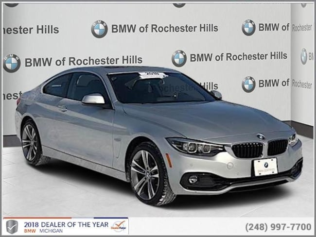 certified used 2018 BMW 430i xDrive Coupe shelby township MI