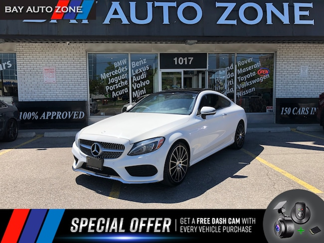 Certified 2017 Mercedes-Benz C-Class C300 4MATIC AMG PKG+NAVI+REAR CAM+PANO ROOF Coupe in Toronto