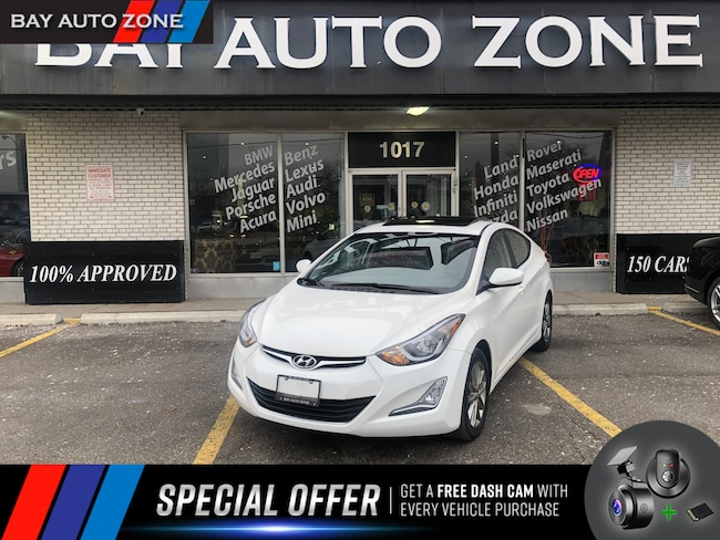 Certified 2014 Hyundai Elantra FRONT AND REAR HEATING SEATS+CAMERA+SUNROOF Sedan in Toronto