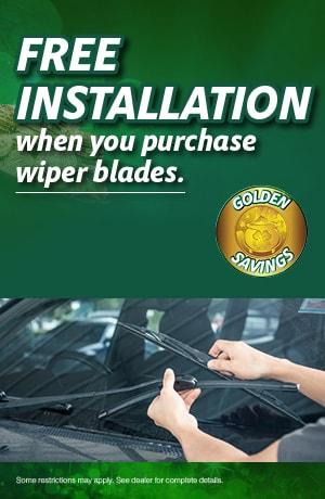Free Wiper Installation