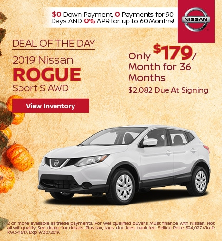 Deal Of The Day 2019 Nissan Rogue Sport S AWD