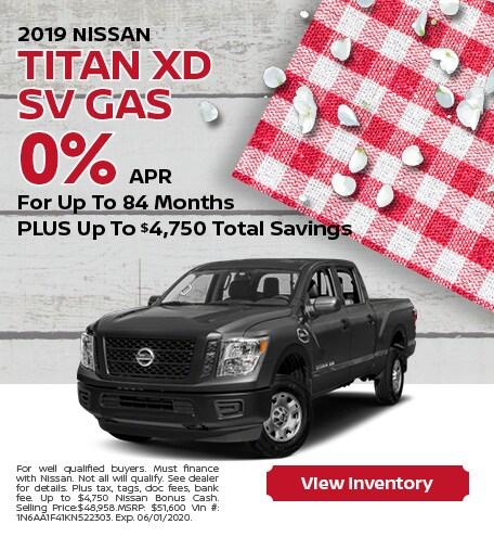 2019 Nissan Titan XD SV Gas