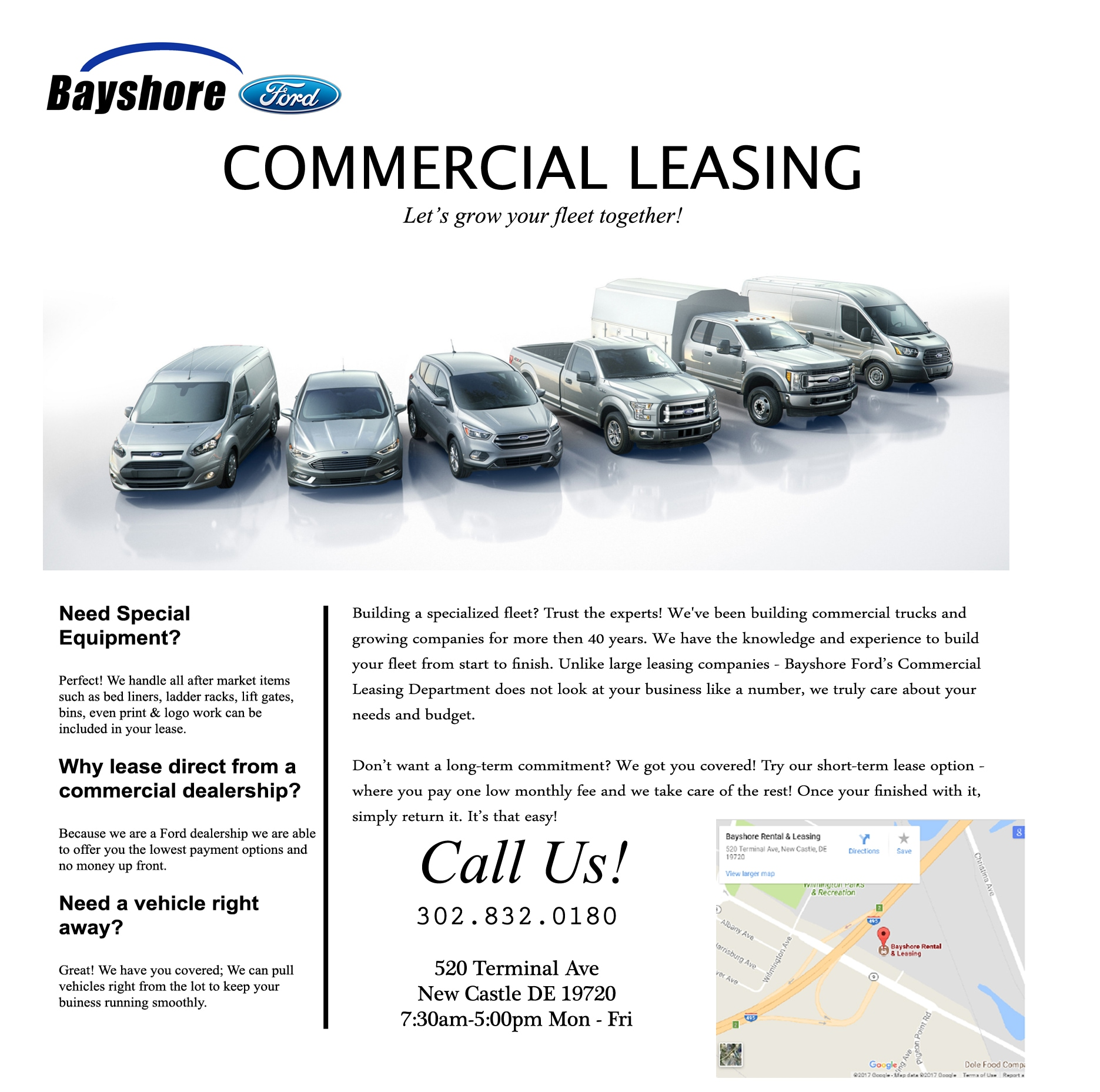 Commercial Leasing | Bayshore Ford Truck Sales