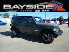 New 2018 Jeep Wrangler UNLIMITED SPORT S 4X4 Sport Utility 1C4HJXDG7JW319846 near Biloxi, MS