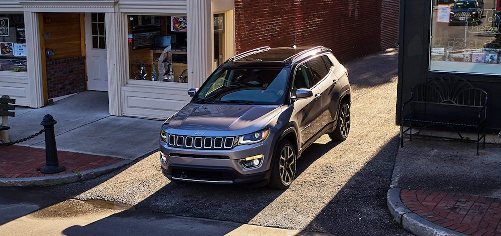 2021 Jeep Compass Exiting An Alleyway