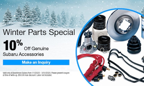 Winter Parts Special