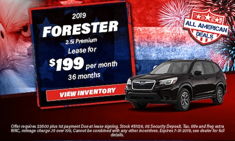 July 2019 Forester Special