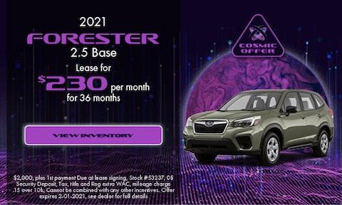 December 2021 Forester Special