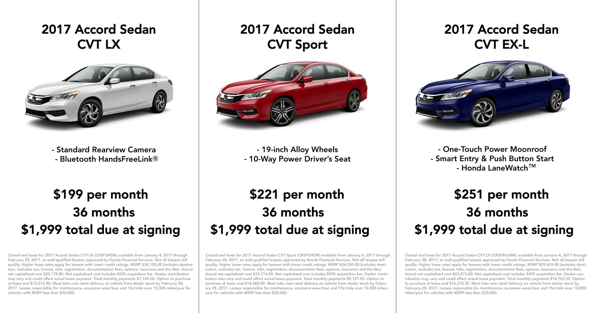 Honda Accord February Specials