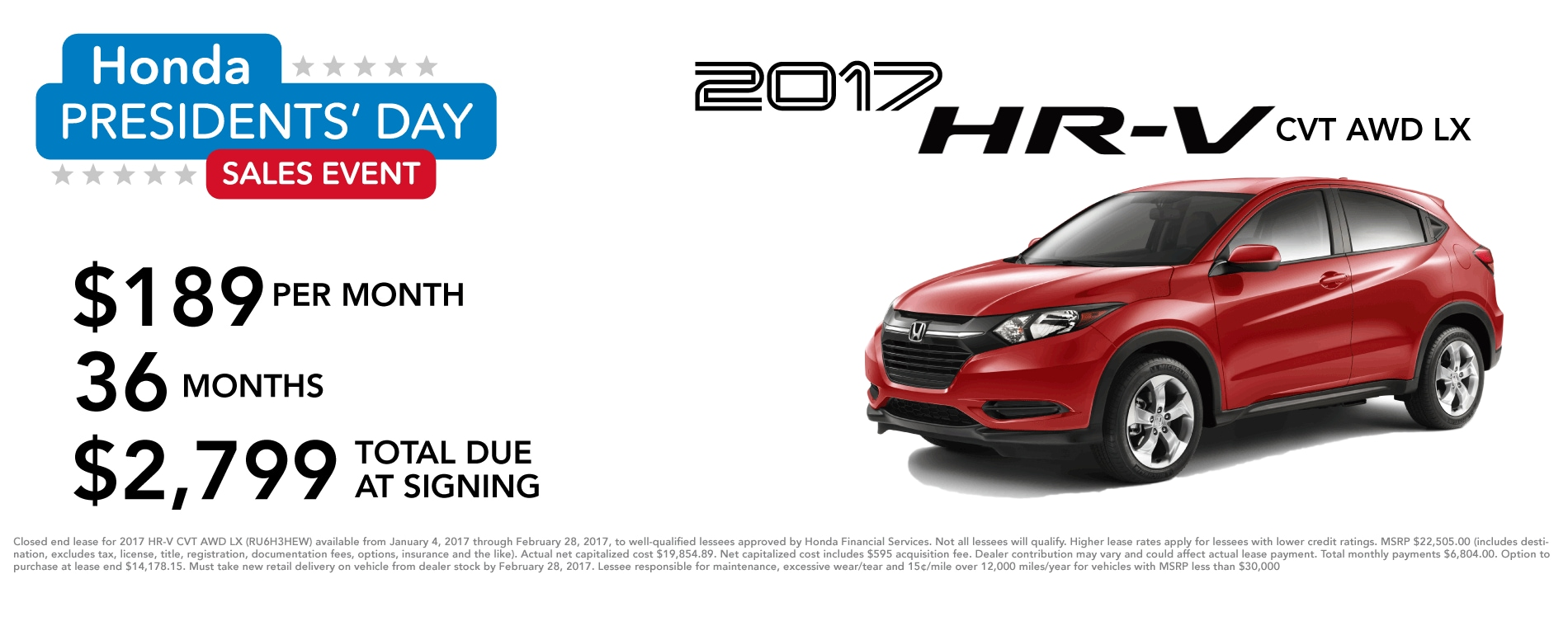 Honda HR-V February Special