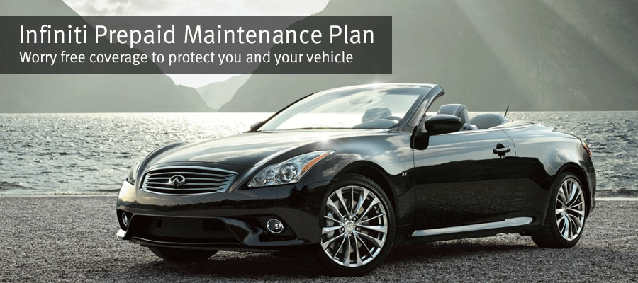 Image of the INFINITI Q60 Convertibale titled INFINITI Prepaid Maintenance Plan - Worry free coveage to protect you and your vehicle.