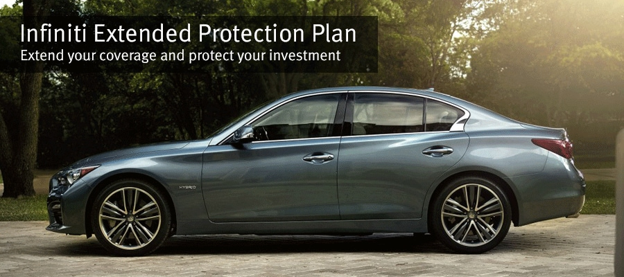 Image of the 2015 INFINITI Q50S Hybrid titled INFINITI Extended Protection Plan - Extend your coverage and protect your investment.