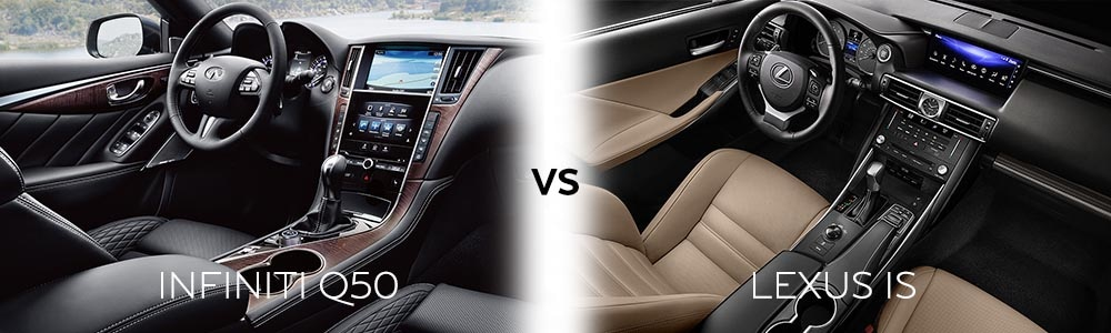 The elegant interior found in the INFINITI Q50 truly sets it apart from the competition. You can tell that INFINITI put some thought into the placement of every button.