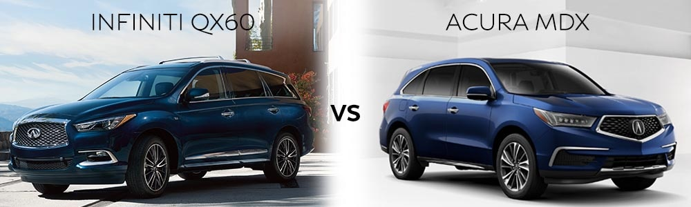 acura mdx vs infiniti qx60 third autos post. Black Bedroom Furniture Sets. Home Design Ideas
